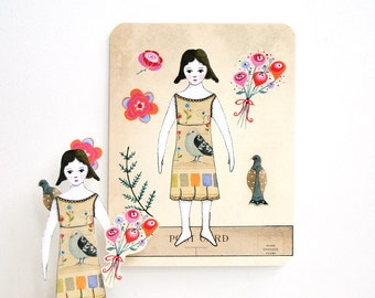 Lily Paper Doll (Set of 3 Postcards)