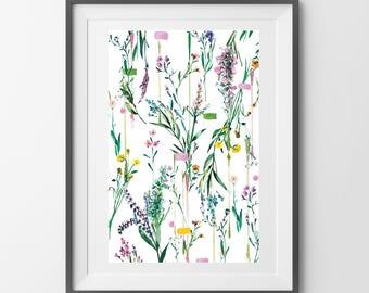Fleur Botanique art  print