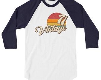 Vintage 1971 3/4 sleeve raglan shirt