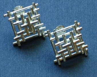 Sterling Silver Small Temple Studs