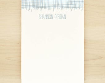LINEN Personalized Notepad - Masculine Teacher Letterhead