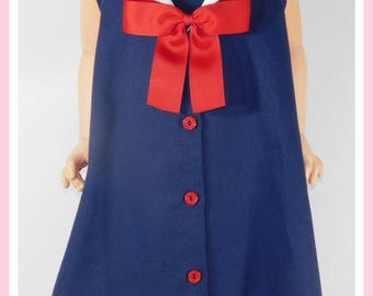 Sailor Dress for Girl, Baby Girl Sailor Dress, Sailor Outfit for Baby