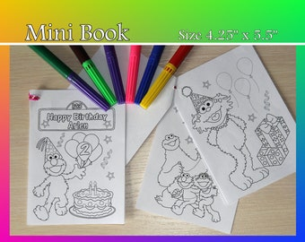 Mini coloring book Etsy