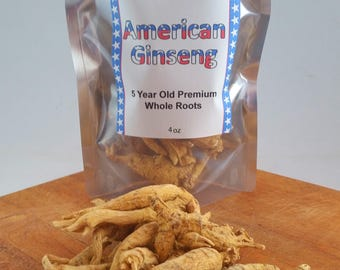 5 Year American Ginseng Premium Whole Roots | 2-16oz | Free Shipping in USA | Best Price & Highest Quality