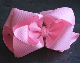 Light Pink 6 Inch Double Stacked Bow