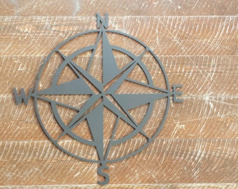 Custom Metal Compass Rose Wall Art, Wall Hanging