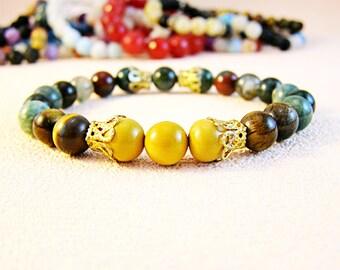 Women bracelet Prosperity bracelet Gemstone jewelry Healing bracelet Abundance bracelet Women gift Gift for her Success bracelet Jasper