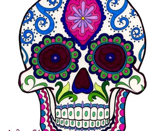 Candy Skulls - A Day Of The Dead Inspired Adult Coloring Book