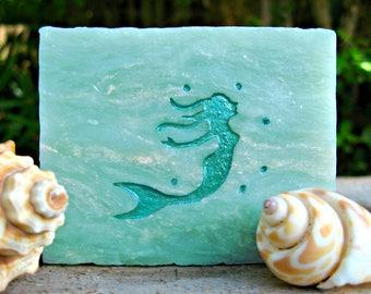 MERMAID SOAP, Gift for MERMAID lover! Beautiful Oceanic Fragrance. Stocking Stuffer for Her. 4 oz.