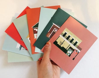 Bars of New Orleans Greeting Card Set (8 Pack), Historic Building/ House Architecture Louisiana