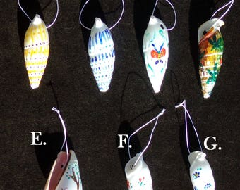Hand Painted Seashell Focal Beads