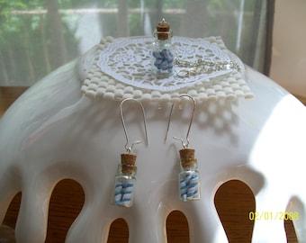 "n""2529 jar sugar d blue and white candy cane ornament"
