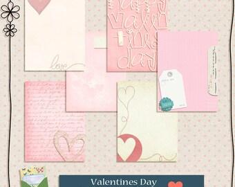 Vintage Valentine 3x4 Digital Journaling Cards