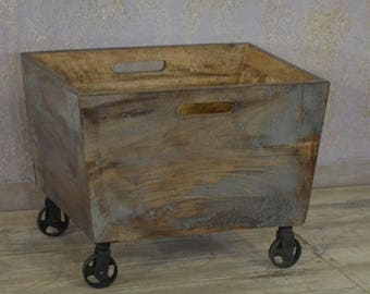Solid Wood Recycle Box