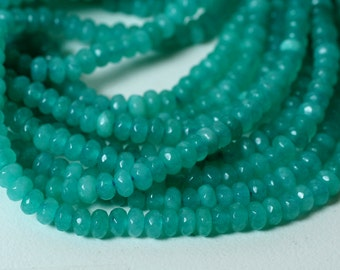 Candy jade faceted rondelle 4mm lake blue, 36 pcs (item ID CJ4mRNG1)