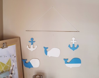 Wall decor - whale Mobile