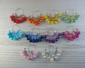 Bayberry Bead Hugging Snag Free  Stitch Markers, Stitch Markers,  Knitting Accessories