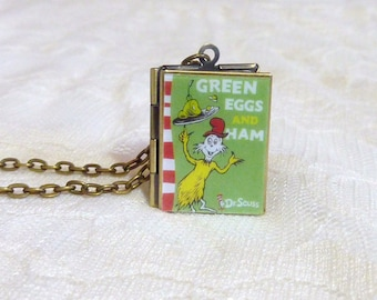 Green Eggs and Ham Story Locket