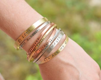 Personalized bracelets, personalised raw brass bracelet, raw copper bracelet, raw german  silver bracelet, unisex personalized bracelets