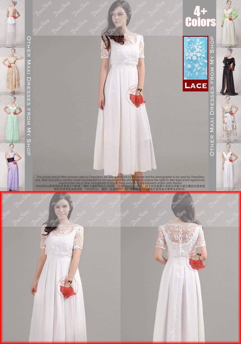 Weißen Organza Kleid weiß-Maxi-Kleid schwarz Spitze Prom