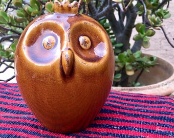 Vintage orange ceramic owl