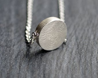 Original Silver Necklace, Sterling Disc Necklace, Gift for Her, Valentines Day Gift, Layered Necklace, Layering Necklace, Bridesmaid Gift