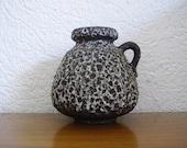 Schlossberg Grey fat lava vase