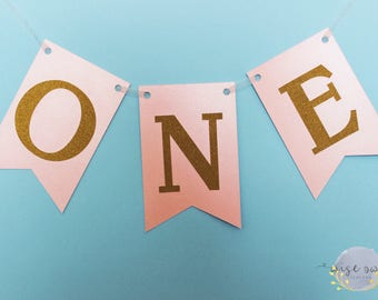 ONE Banner | Highchair Banner | High Chair Bunting | ONE bunting | 1st Birthday Banner | Cake smash banner | 1st birthday | ONE Birthday |