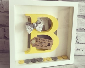 Wooden Letter Frame | Baby Boy | New Born | Personalised Gift | Nursery Decor