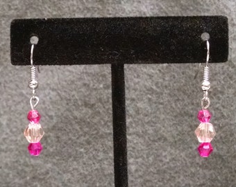 Pink Crystal Dangles by Lily  Sku 26