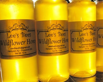 Honey - Wildflower Honey, 12 oz. Squeeze Bottle with Flip Cap, Organically Raised and Jersey Fresh from Lee the Beekeeper