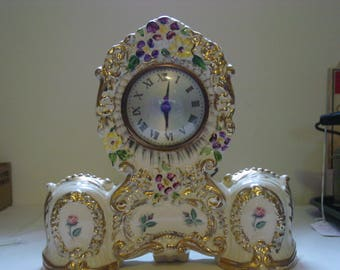 Vintage Clock~Sessions American Beauty Clock~Porcelain~Electric