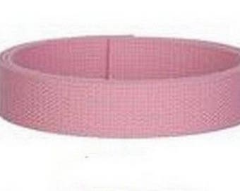 25 mm light pink cotton strap