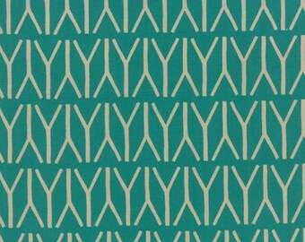Valley Branches Teal Fabric for by Sherri & Chelsi for Moda 37513 22, Modern Fabric, Geometric Fabric