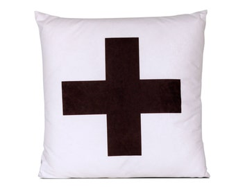 Decorative pillow Cross white