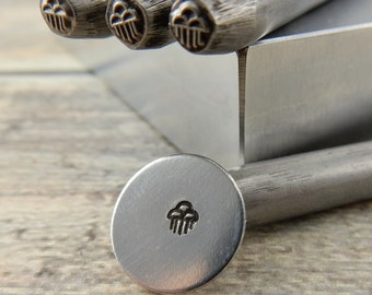 Rain Clouds Metal Stamp 5mm, Southwest  Native American Symbol Outline Design Stamp, Hand Stamping Tool for DIY Jewelry, Steel Stamp