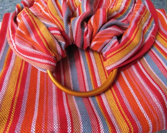 Wrap conversion, Ring Sling, Baby Carrier, Storche, sturdy toddler sling, baby shower, babywearing - Storchenwiege Lilly - DVD included