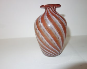 Studio glass spiral finished vase