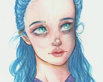 Bluey Art Print