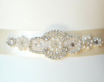 Bridal Sash Belt, Wedding Dress Sash Belt, Rhinestone Bridal Bridesmaid Sash Belt, Wedding dress sash