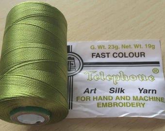 Rayon thread / 15 absinthe green artificial silk