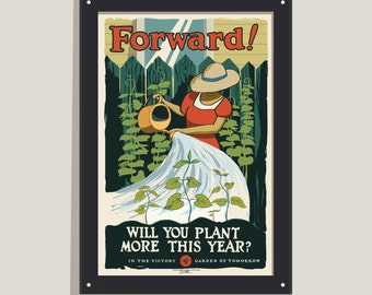 Forward! - 12x18 poster