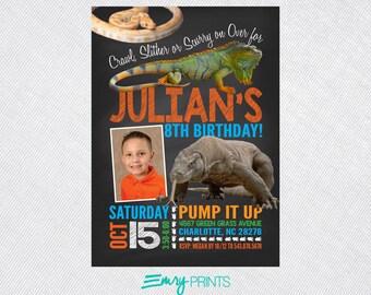Reptile Invitation Reptile Invitation Snake Invitation Lizard Invitation Animal Birthday Reptile Snake Lizard Birthday