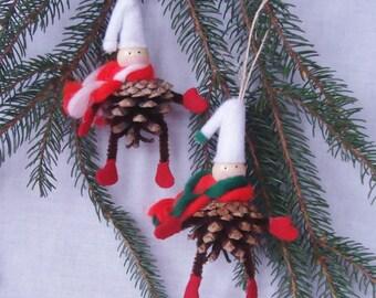 Pinecone Ornaments – Elves