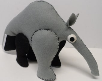 Giant Anteater Large Stuffed Animal Felt Sewing Pattern Instant Download