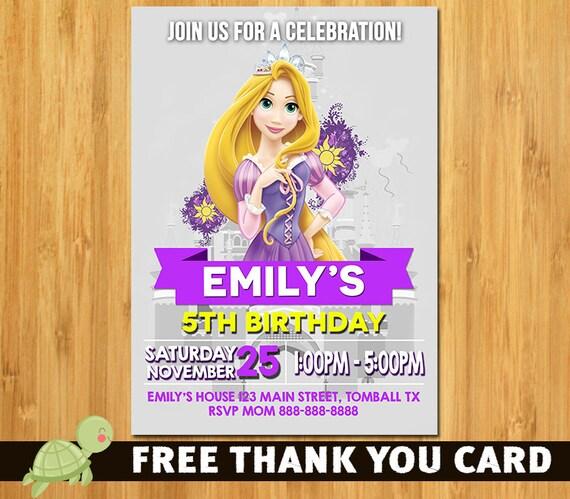 Rapunzel invitationTangled invitation Rapunzel birthday