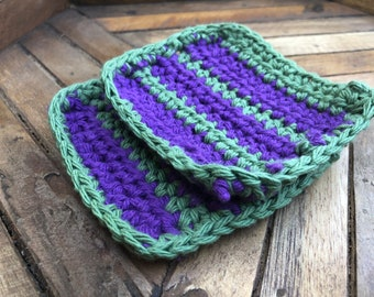 Crochet Coasters - Grapevine Set of 2