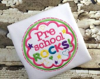 Preschool Rocks -  Shirt - School Rocks Tshirt - Back To School Shirt