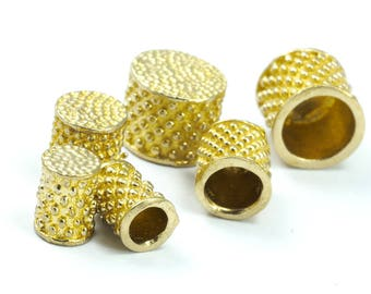 7 X 8.5 mm 6.2 mm inner without loop cord  tip ends, raw brass ends cap, ENC6 1582R