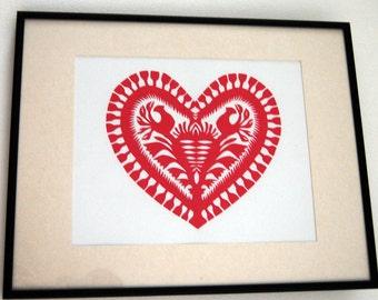 Papercuts Wycinanki Traditional Polish Folk Art Picture